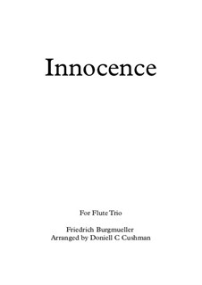 No.5 Innocence: For flute trio by Иоганн Фридрих Бургмюллер