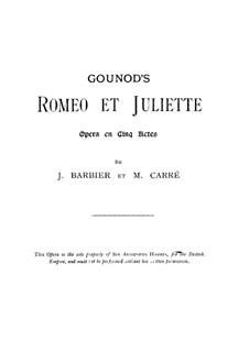 Ромео и Джульетта: Вокальная партитура by Шарль Гуно