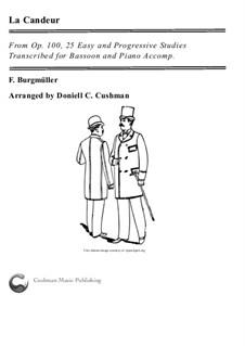 No.1 La Candeur: Для фагота и фортепиано by Иоганн Фридрих Бургмюллер