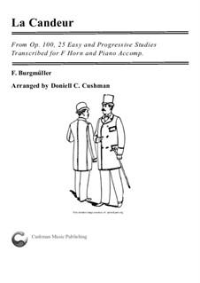 No.1 La Candeur: For F horn and piano by Иоганн Фридрих Бургмюллер