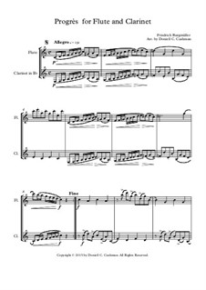 No.6 Progrès (Progress): For flute and clarinet by Иоганн Фридрих Бургмюллер
