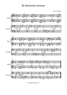 12 Weihnachtslieder für Klavier zu 4 Händen: Nr.7 Ihr Kinderlein kommet by folklore, Фридрих Зильхер, Франц Ксавьер Грубер, Эрнст Рихтер, Иоганн Авраам Шульц, James Lord Pierpont, Unknown (works before 1850)