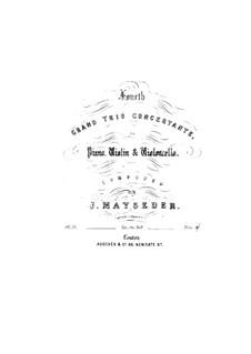 Фортепианное трио No.4 соль мажор, Op.59: Партия фортепиано by Йозеф Майзедер
