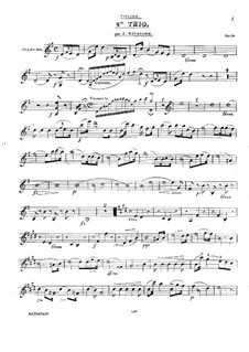 Фортепианное трио No.4 соль мажор, Op.59: Партия скрипки by Йозеф Майзедер