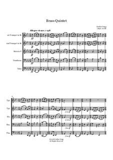 Brass Quintet: Brass Quintet by Jordan Grigg