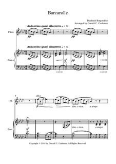 No.22 Barcarolle: Для флейты и фортепиано by Иоганн Фридрих Бургмюллер