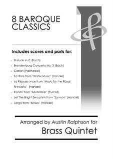 8 Baroque Classics - brass quintet bundle / book / pack: 8 Baroque Classics - brass quintet bundle / book / pack by Иоганн Себастьян Бах, Генри Пёрсел, Георг Фридрих Гендель, Иоганн Пахельбель
