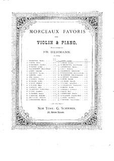 Шесть пьес для скрипки и фортепиано, Op.85: No.3 Каватина – партитура, сольная партия by Иоахим Рафф