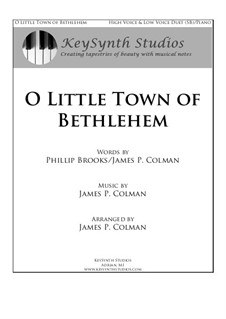 O Little Town of Bethlehem: For two voices and piano by James Colman