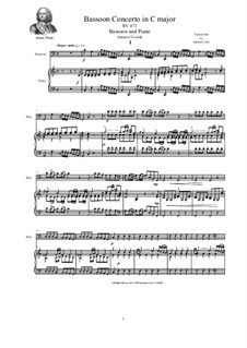 Concerto in C major for Bassoon, Strings and Cembalo, RV 471: Version for bassoon and piano by Антонио Вивальди