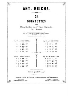 Квинтет для духовых инструментов фа мажор, Op.100 No.1: Партия флейты by Антон Рейха