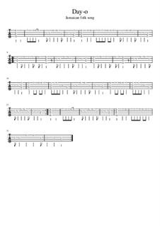 Day-o: For ukulele tab by folklore