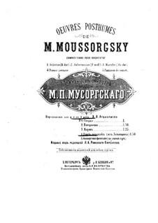 Пляска персидок: Для фортепиано в 4 руки – партии by Модест Мусоргский