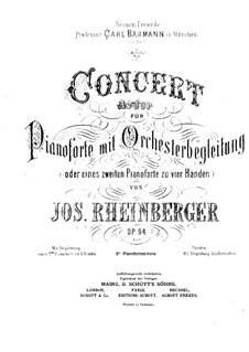 Концерт для фортепиано с оркестром, Op.94: Версия для двух фортепиано by Йозеф Габриэль Райнбергер