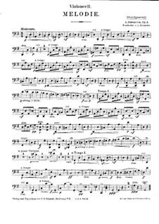 Две мелодии, Op.3: Мелодия No.1, для струнного квинтета – Партия виолончели by Антон Рубинштейн