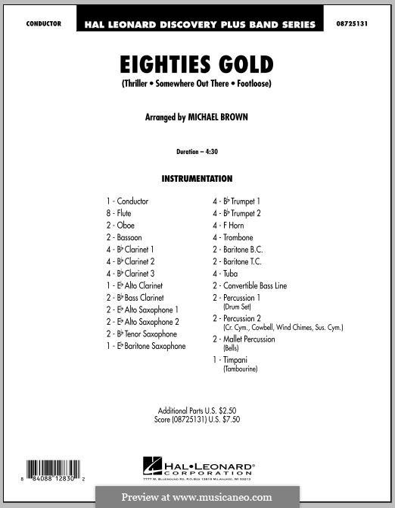 Eighties Gold: Партитура by Barry Mann, Cynthia Weil, James Horner, Kenny Loggins, Rod Temperton