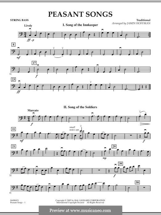Peasant Songs: String Bass part by folklore