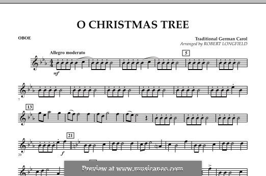 O Christmas Tree, for Orchestra: Партия гобоя by folklore