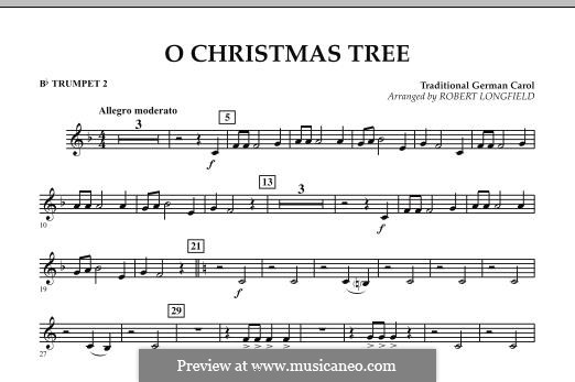 O Christmas Tree, for Orchestra: Bb Trumpet 2 part by folklore