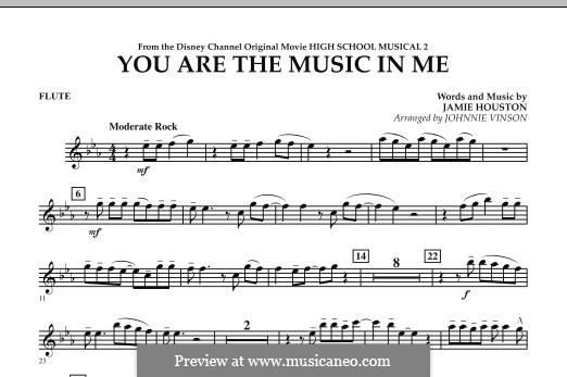You are the Music in Me (High School Musical 2): Партия флейты by Jamie Houston