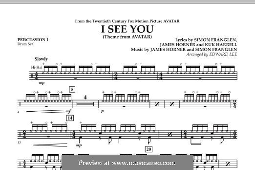 I See You (Theme from Avatar): Percussion 1 part by James Horner, Simon Franglen