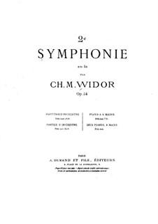 Симфония No.2 ля мажор, Op.54: Симфония No.2 ля мажор by Шарль Мари Видор