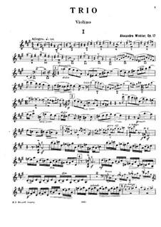 Фортепианное трио фа-диез минор, Op.17: Партия скрипки by Александр Винклер