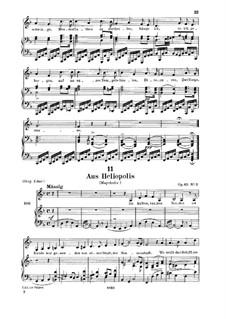 From 'Heliopolis' I, D.753 Op.65 No.3: Для низкого голоса и фортепиано by Франц Шуберт