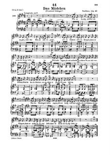 Das Mädchen (The Maiden), D.652: Для низкого голоса и фортепиано by Франц Шуберт
