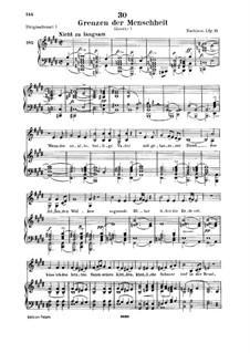 Grenzen der Menschheit (Man's Limitations), D.716: Для низкого голоса и фортепиано by Франц Шуберт