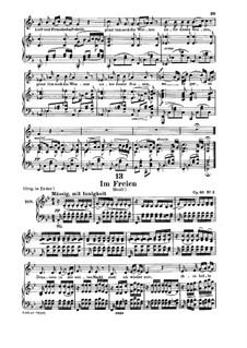Im Freien (In the Open), D.880 Op.80 No.3: Для низкого голоса и фортепиано by Франц Шуберт