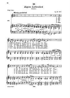 Jägers Liebeslied (Huntsman's Love Song), D.909 Op.96 No.2: Для низкого голоса и фортепиано by Франц Шуберт