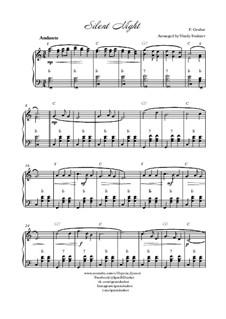 Тихая ночь, дивная ночь, для одного инструмента: Для баяна by Франц Ксавьер Грубер