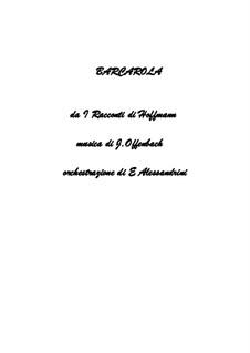 Баркарола: Version for large ensemble by Жак Оффенбах