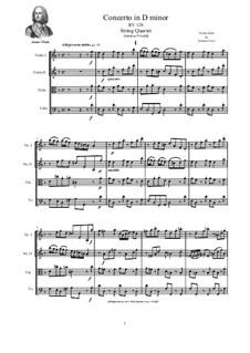 Concerto for Strings in D Minor, RV 128: Версия для струнного квартета by Антонио Вивальди