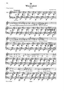 Колыбельная, D.498 Op.98 No.2: Для низкого голоса и фортепиано by Франц Шуберт