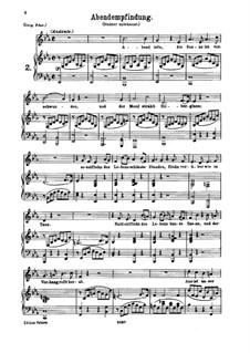 Вечер, K.523: Для среднего голоса и фортепиано by Вольфганг Амадей Моцарт