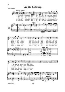 An die Hoffnung, K.390 (340c): Для среднего голоса и фортепиано by Вольфганг Амадей Моцарт