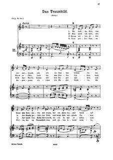 Traumbild, K.530: Для среднего голоса и фортепиано by Вольфганг Амадей Моцарт