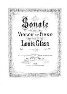 Соната для скрипки и фортепиано ми-бемоль мажор, Op.7: Партитура by Луис Гласс