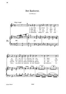 Der Zauberer, K.472: Для высокого голоса и фортепиано by Вольфганг Амадей Моцарт