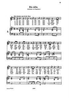Die Alte, K.517: For high or medium voice and piano by Вольфганг Амадей Моцарт