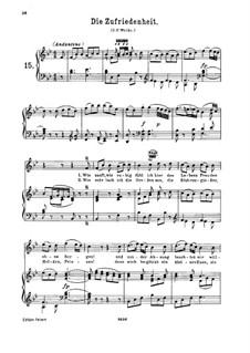 Die Zufriedenheit, K.473: Для высокого голоса и фортепиано by Вольфганг Амадей Моцарт
