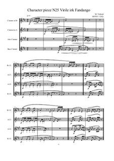 No 25 for Bass clarinet quartet, MVWV 1242c