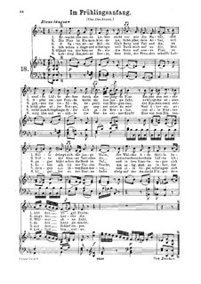 Im Frühlingsanfang, K.597: For high or medium voice and piano by Вольфганг Амадей Моцарт