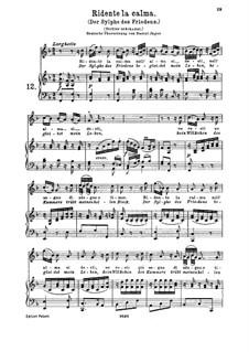 Ridente la calma, K.152/K.210a: Для высокого голоса и фортепиано by Вольфганг Амадей Моцарт, Йозеф Мысливечек