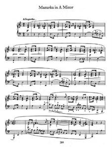 Мазурка ля минор, B.134 KK IIb/4: Для фортепиано by Фредерик Шопен