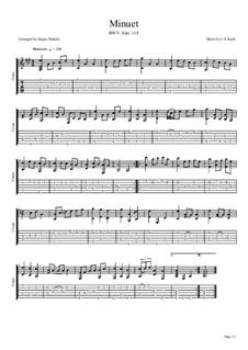 No.4 Менуэт соль мажор, BWV Anh.114: Для гитары by Иоганн Себастьян Бах