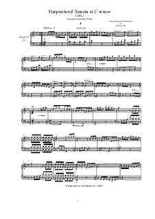 Harpsichord (or Piano) Sonata in C minor: Harpsichord (or Piano) Sonata in C minor, CSPla3 by Джованни Бенедетто Платти