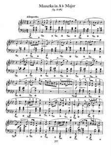 Мазурки, Op.59: No.2 in A Flat Major by Фредерик Шопен